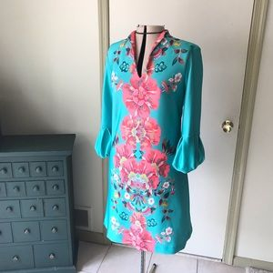 NY&Co green dress 👗 with flowers